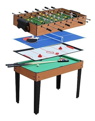 Mesa De Juegos 4 En 1 Fulbito Billar Hockey Y Tennis Do It