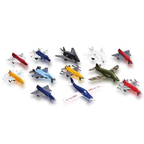 Juego Avión Juguete Fundido Metal 12 Aviones Y Aviones
