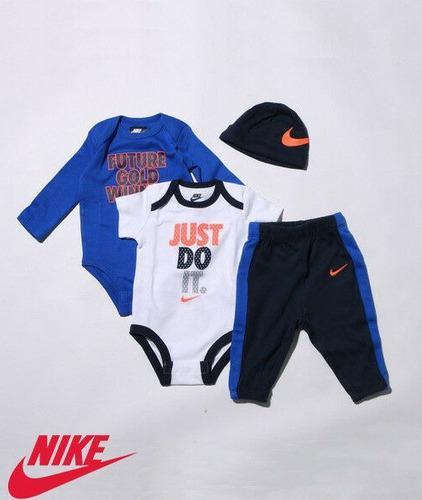 Conjunto Bebe Nike 4 Pcs 100% Original 0-6 Meses Envio Ya