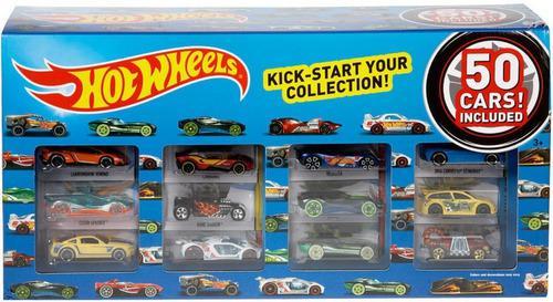 Caja Carros Hot Wheels 50autos Original Modelos Variados
