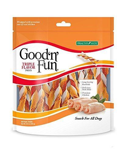 Healthy Hide Good N Fun Triple Twists Snack Para Perros Trat