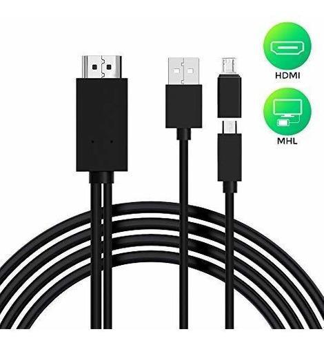 Cable Mhl A Hdmi, Adaptador Micro Usb A Hdmi, Convertidor