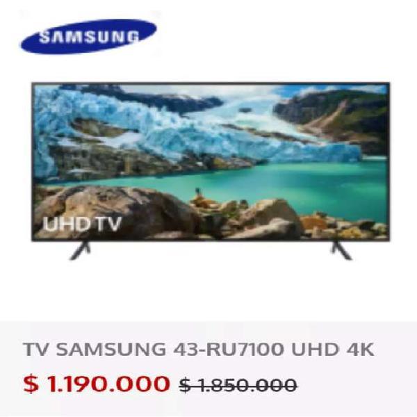 "Televisor Samsung 43"" Smart TV UHD 4K"