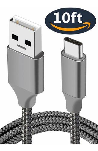Cable Cargador, Usb Tipo C, Pies, Extra Largo, Cable D...