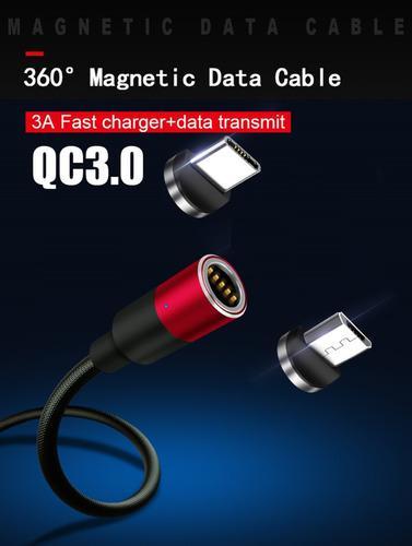 Cable Cargador Magnetico Con Plug Tipo C + Plug Micro Usb