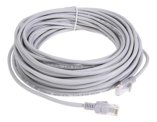 Cable Utp Cat 5e Red Internet Computador Ponchado X 30 Mts