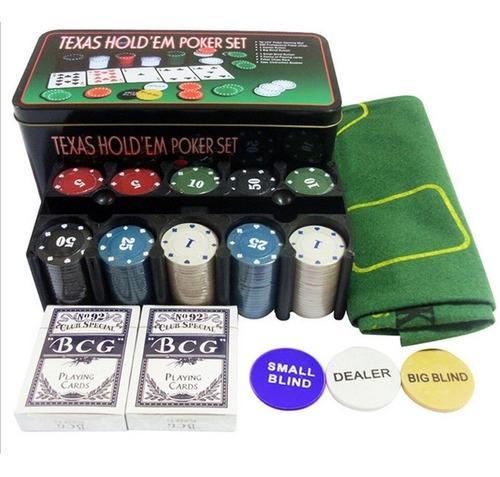 Baraja De Cartas Poker Naipes Juego De Mesa +tapete + Fichas