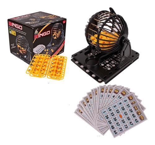 Juego De Mesa Bingo Familiar Con Balotera Tablas Y Balotas
