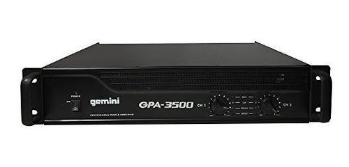 Gemini Gpa3500 3000 W Dj Profesional Amplificador De Potenci