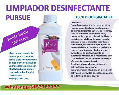 2 Cloruro De Amonio Cuaternario Pursue, Desinfectante Virus