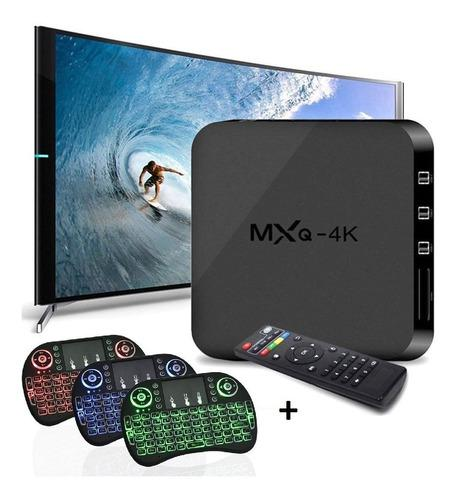 Mini Tv Box 4k Ram 2gb Dd 16gb + Mini Teclado Con Mouse + Ob