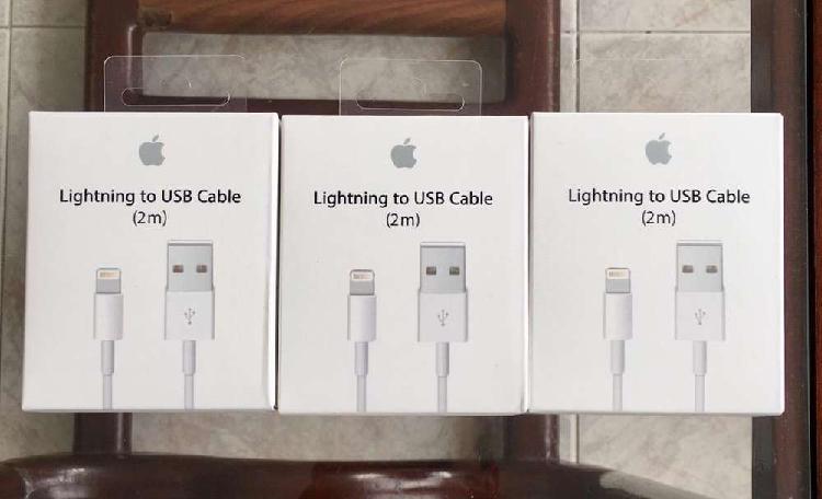 Cable iPhone Original, Nuevo, Sellado, dos metros
