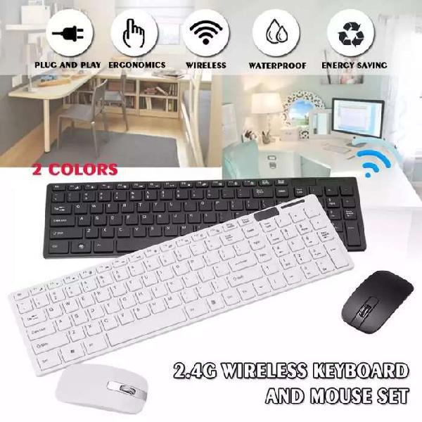 Combo teclado más mouse inalambrico