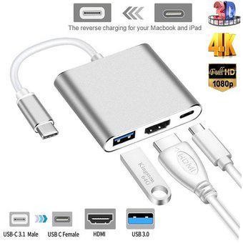 Adaptador De Concentrador USB Tipo C HDMI 1080P / 4K Cable