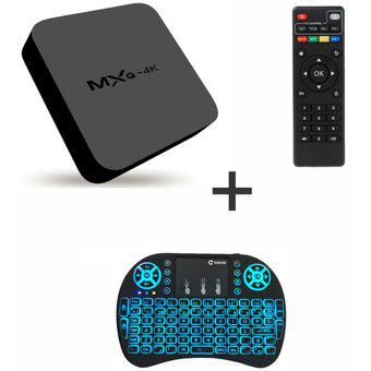 Convertidor A Smart Tv Box Android + Keyboard Luces Led