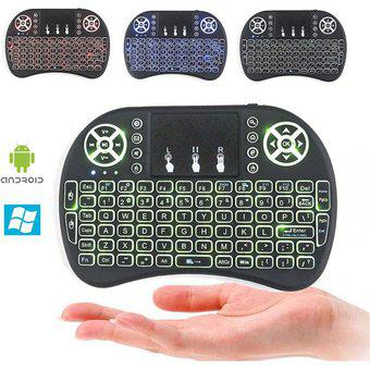 Mini Teclado Con Mouse Integrado Iluminado Alambico 2.4GHz,