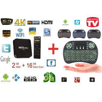 TV BOX 4K D.D 16 GB, Ram 2 GB Quad Core + Mini Teclado Mouse