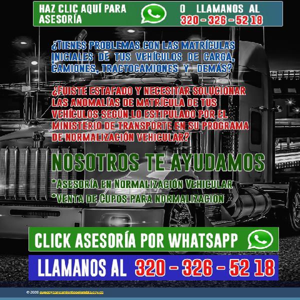 VENTA DE CUPOS PARA MULAS - CAMIONES - DOBLE TROQUES Y