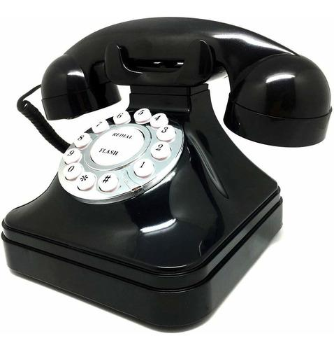 Teléfono Antiguo Retro Vintage Teléfono Fijo Teléfon...