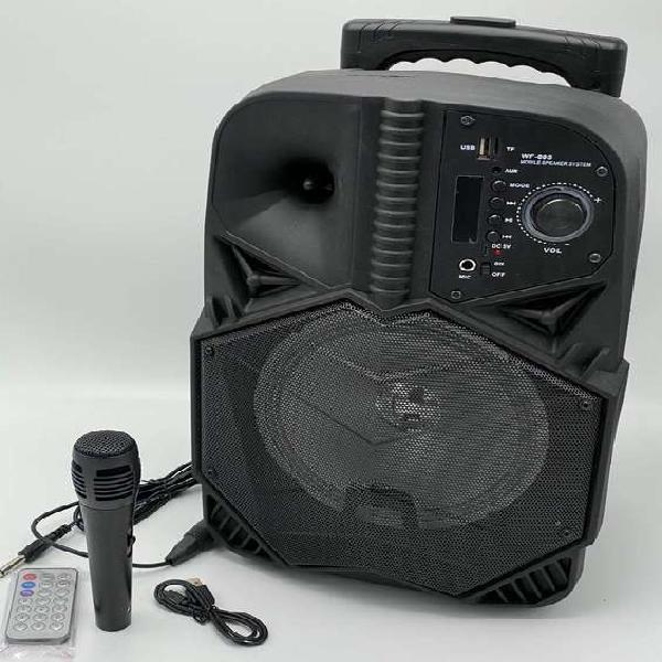 """PARLANTE WF805 8"""" CON MICROFONO,RADIO FM,USB,MICRO SD180000"""