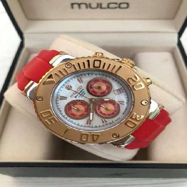 Reloj Mulco Bluemarine rojo unisex original