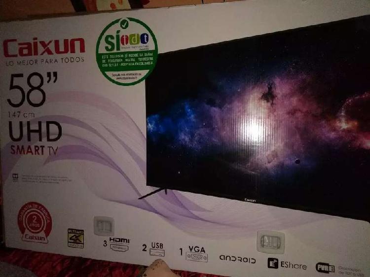"""Vendo tv de 58"""" nuevo con garantía Smart tv Android y"""
