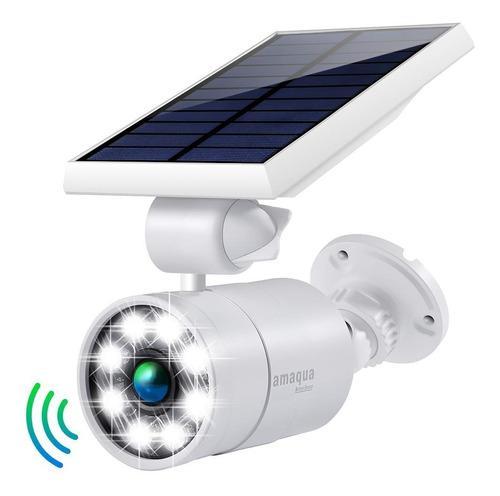 El Sensor De Movimiento Solar Se Enciende En El Exterio...