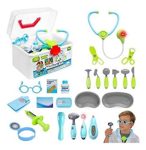 Liberty Imports Kids Doctor Set   24 Piezas   Juego De Rol N