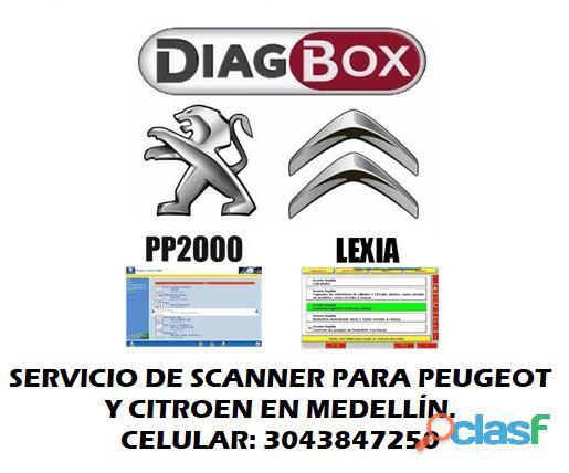 Servicio scanner Peugeot y Citroen en Medellin escaner