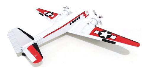 Avión Metal Blanco 72 X 48 X 10 Cm Estrella Roundel