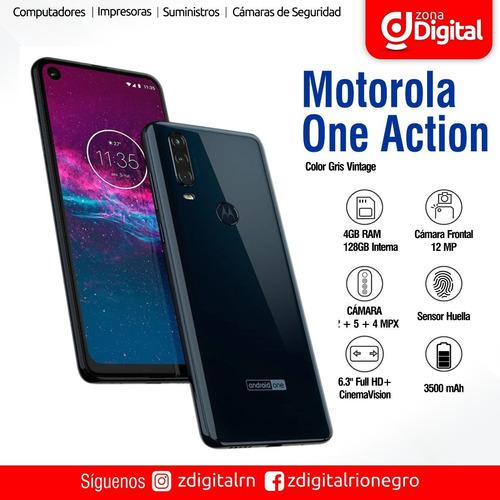 Celular Motorola Moto One Action 4gb/128gb Gris Vintage
