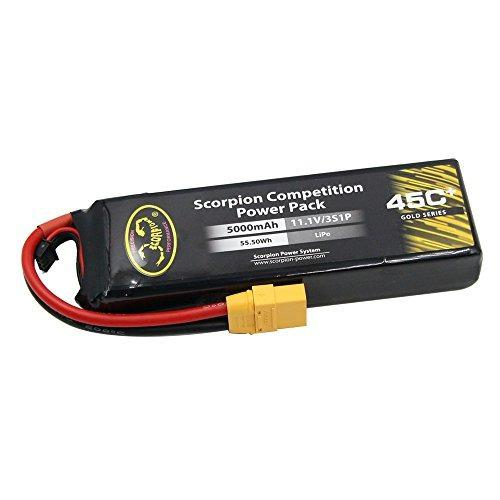 Scorpion 111v 3s 5000mah 45c Lipolymer Lipo Rc Baterías Con