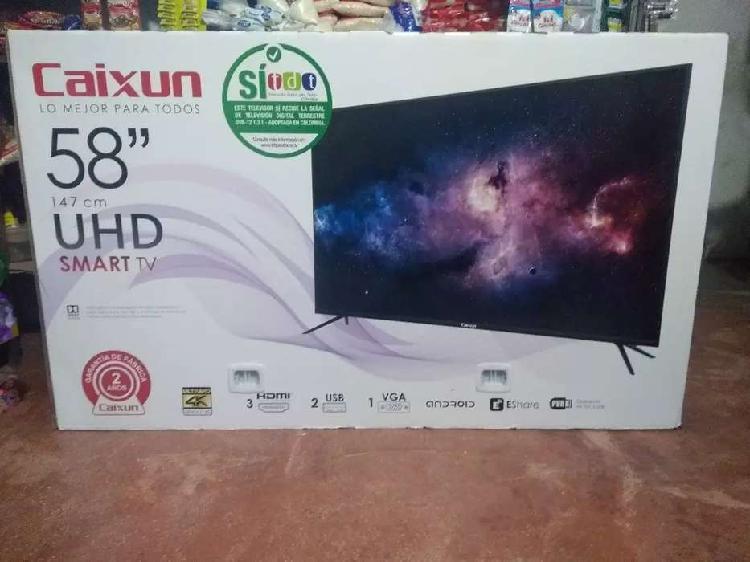 TV de 58 Pulgadas UHD 4K Marca Caixun Nuevo de paquete Con 2