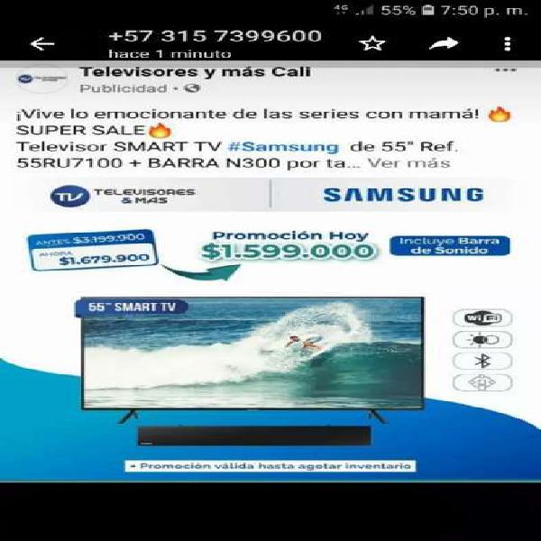 Vendo televisores Samsung nuevos Smart tv de 55 p