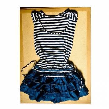 Vestido de rayas y denim