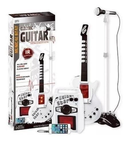 Guitarra Eléctrica De Juguete Microfono Parlante Niños