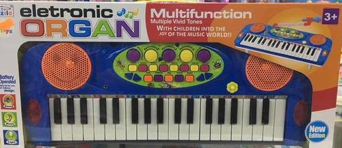 Organeta Piano Carita Micrófono Para Niña Y Niño Juguete