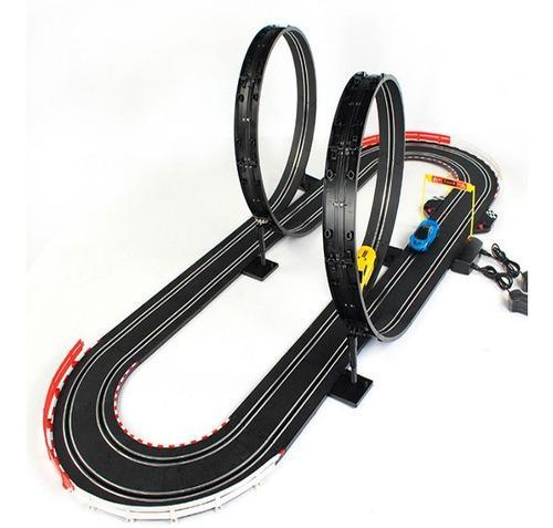 Pista De Carros Electrica Jj98 Mega Giros 360 5.5mt 2 Carros