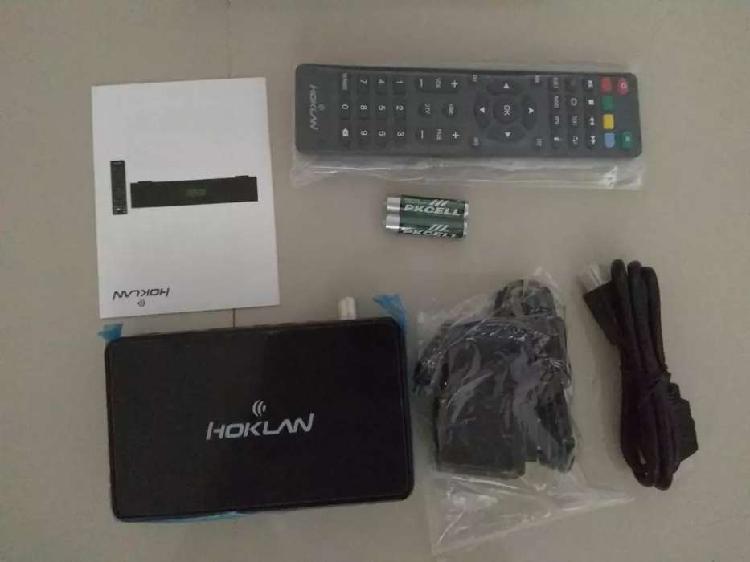 Tv box con decodificador TDT con control y cable HDMI