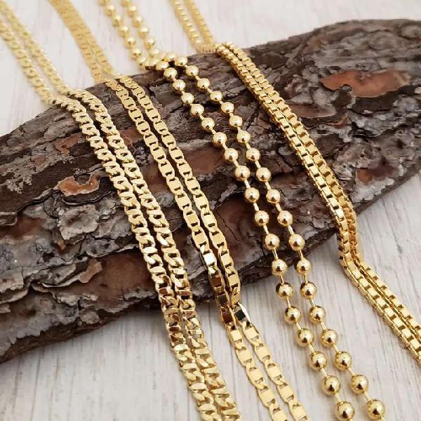 Cadenas para hombre en oro laminado