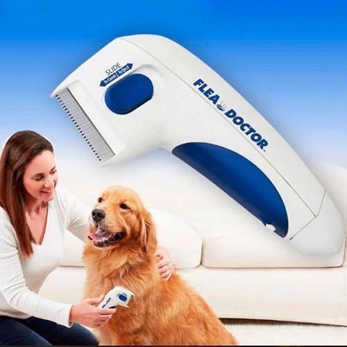 Cepillo Eléctrico Para Mascotas Anti-pulgas Piojos +