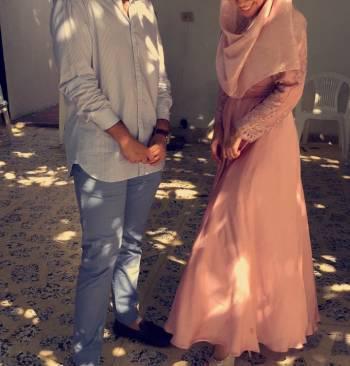 Vestido de fiesta color palo de rosa