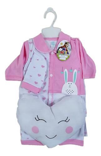 Primera Muda Ajuar Para Bebes 7 Piezas Almohada Corazon