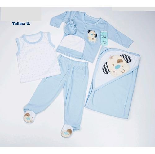 Primera Muda Primer Día Para Bebes 6 Piezas Con Cobertor