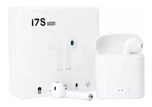 Auriculares Bluetooth I7s Tws + Base Carga Inalámbricos