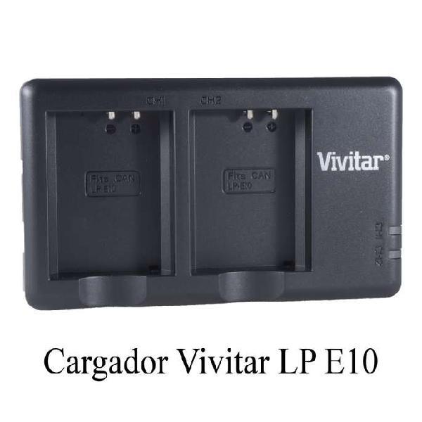 Cargador Doble Para Canon Lp E10 Para T7 T6 T5 T3 Vivitar