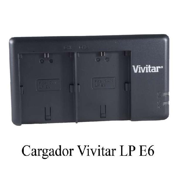 Cargador VIVITAR Doble Para Canon Lp E6 Para 5d Iii 6d 6d Ii