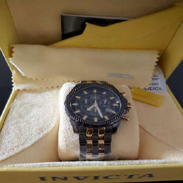 Reloj invicta elegante cronografo original 7170 pulso negro