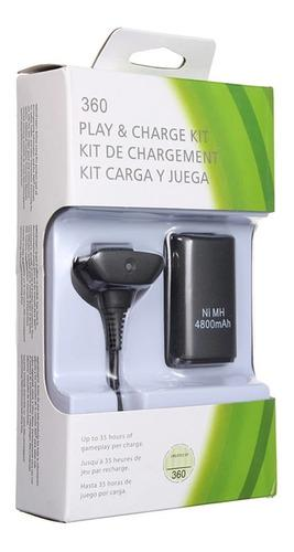 Kit Carga Y Juega Batería Recargable Xbox 360 35h 4800mah