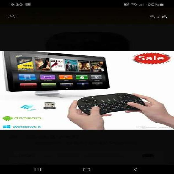 Mini Teclado Inalambrico Mouse Android Smarttv Tv Box Pc